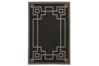 Shanghai Charcoal Outdoor Rug 160X110cm