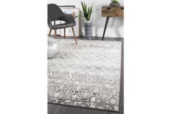 Amelia Grey & Bone Ivory Boho Durable Rug 330x240cm