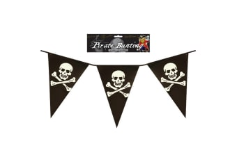 Henbrandt 12 Foot Pirate Bunting (Black/White)