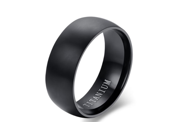 Men's Black Titanium Ring Matte Finished Classic Engagement Anel Jewelry For Male Wedding Bands 12