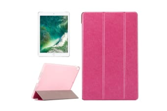 For iPad Pro 10.5inch Case Elegant Leather Silk Texture Protective Cover Magenta