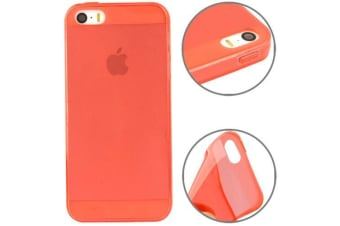For iPhone SE 5S 5 Case Modern Transparent Grippy Shielding Cover Red