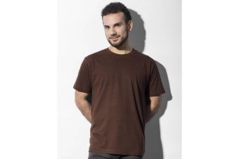 Nakedshirt Mens Larry Triblend T-Shirt (Double Dyed Flame) (XL)