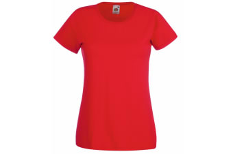 Fruit Of The Loom Ladies/Womens Lady-Fit Valueweight Short Sleeve T-Shirt (Red)