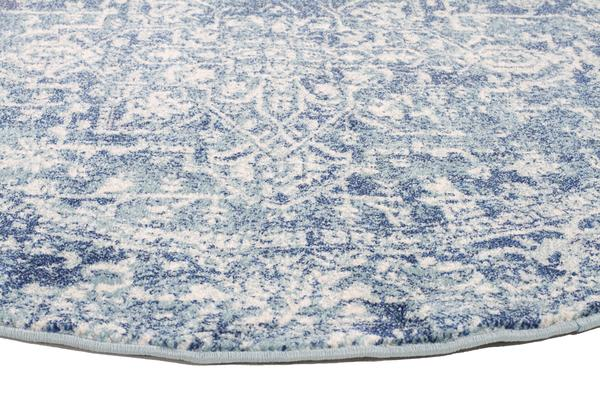 Muse Blue Transitional Rug 200x200cm
