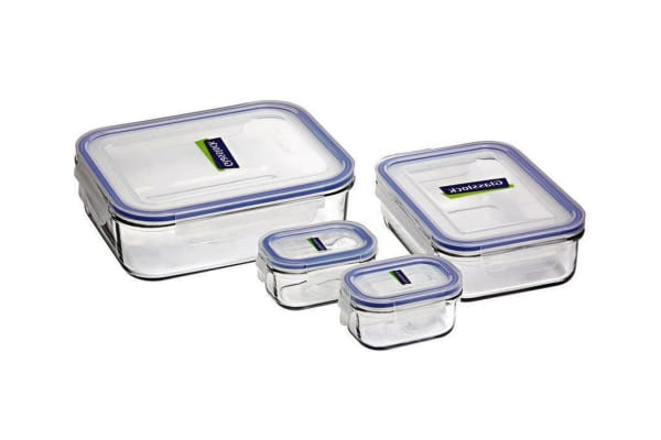 Glasslock 4 Piece Food Container Set With Lids