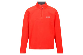 Regatta Great Outdoors Mens Thompson Half Zip Fleece Top (Burnt Salmon)