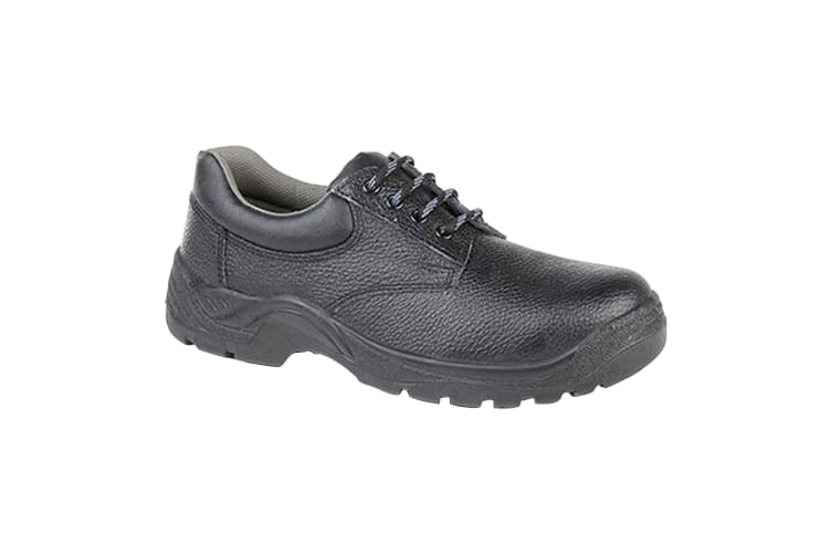Grafters Mens Padded Collar 4 Eye Safety Shoes (Black) (10 UK)