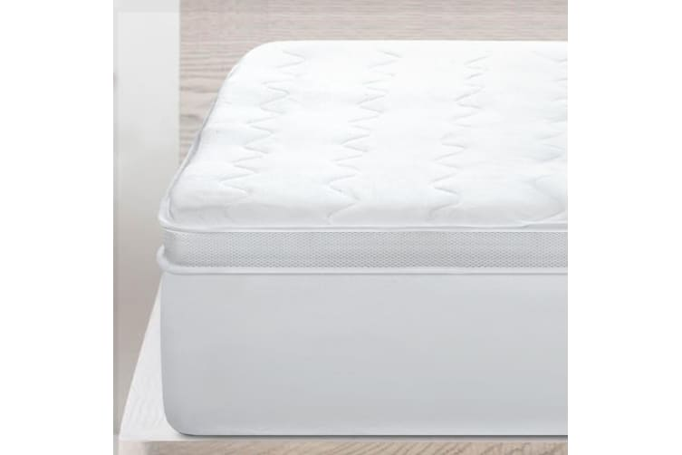 Giselle Bedding Mesh Pillowtop Mattress Topper Protector Cover 5cm King Single