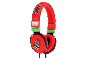 Moki Poppers Over Ear Headphones - Claw Red  (ACCHPPOB)