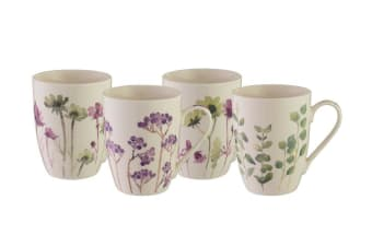 Bundanoon Coupe Mug 355ml Set of 4 Botanical