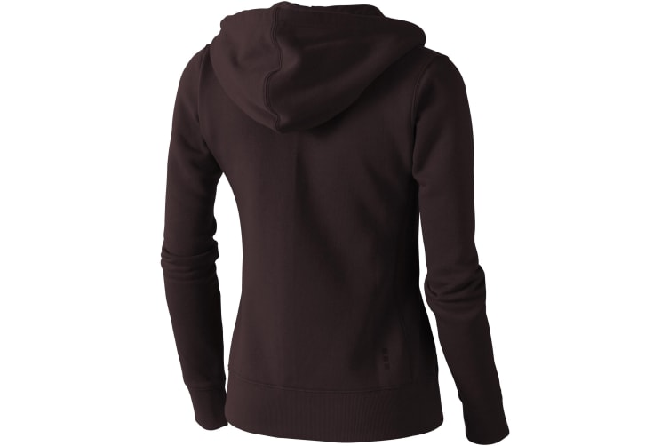 Elevate Womens/Ladies Arora Hooded Full Zip Sweater (Chocolate Brown) (XL)