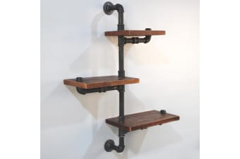 84CM Rustic Industrial DIY Floating Creeper Pipe Shelf