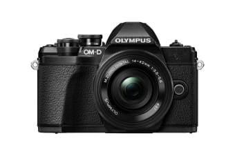 Olympus OM-D E-M10 Mark III Mirrorless Camera Kit with 14-42mm EZ Lens - Black