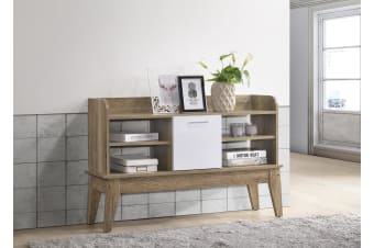 Sideboard Hallway Shelves Storage Table Scandinavian - Oak
