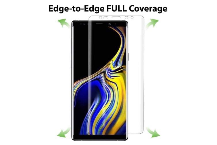 [3 Pack] Samsung Galaxy Note 9 Ultra Clear Edge-to-Edge Full Coverage Screen Protector Film by MEZON – Case Friendly, Shock Absorption (Note 9, Clear)