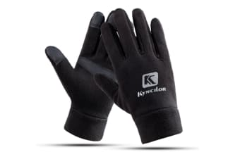 Outdoor Thicker Men'S And Women'S Cold-Proof Touch Screen Riding Gloves - Black Black L