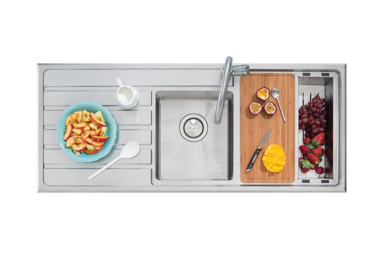 Oliveri Apollo 1 & 3/4 Bowl Sink With Drainer (AP1411)