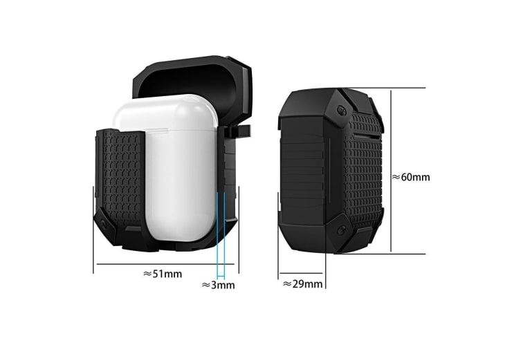For Apple AirPods 1/2 Case Black Version Armor Silicone Protective Box |  Cases |