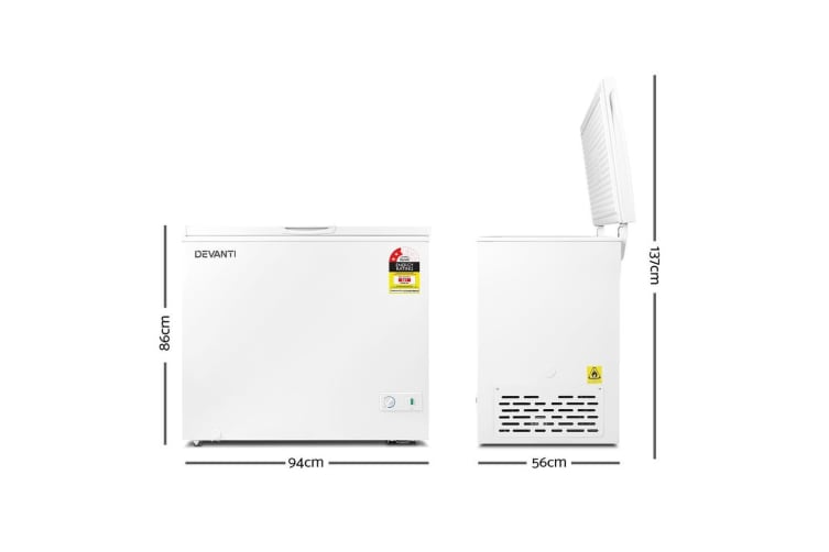 Devanti 200L Chest Freezer - White