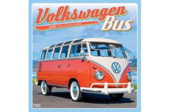Volkswagen Bus 2019 Square Wall Calendar