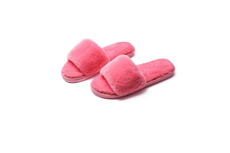 Women Bedroom Slippers Comfort Four Season Classy Indoor Spa Slide Shoes - Watermelon Red Red 38-39(255Mm Length)