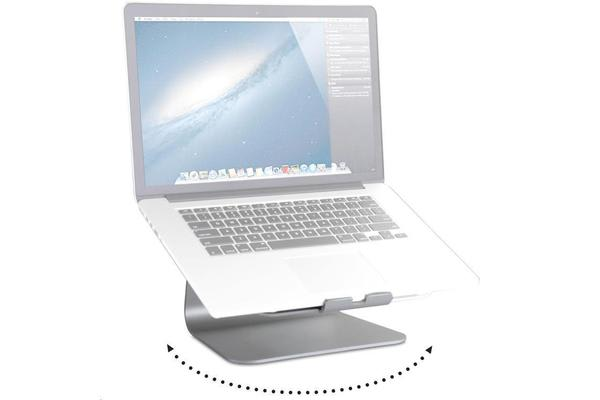Rain Design 10036 mStand360 ergonomic Laptop Stand with Swivel Base Aluminium with silver anodized