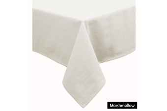 Cotton Blend Table Cloth Marshmallow by Hoydu