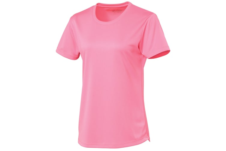 Just Cool Womens/Ladies Sports Plain T-Shirt (Electric Pink) (M)