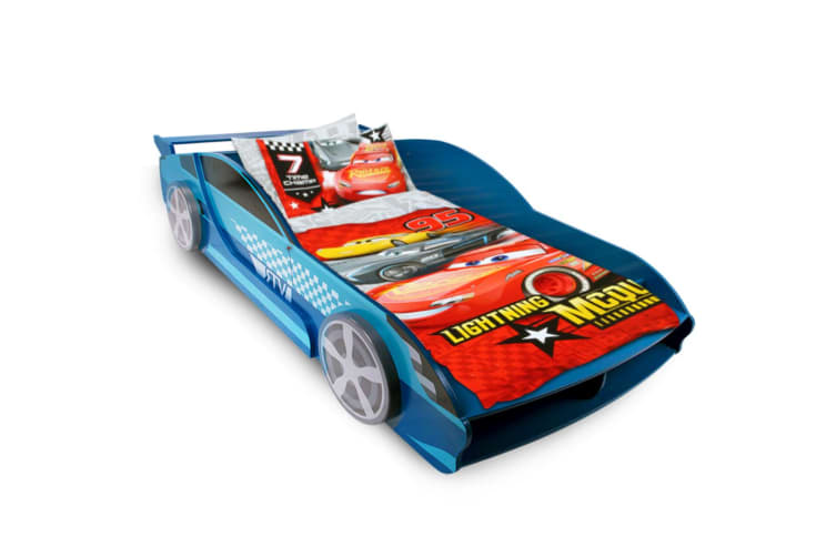 New Kids Wooden Timber Single Bed Frame Children Boys Racing Car Bed Bedroom