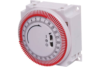 16A 240VAC Manual Mains Timer Switch 24 hour 240V mains operated ON OFF
