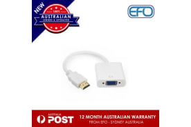 Hdmi To Vga  Adapter Male/Female Video Converter Hd 1080P Chipset White