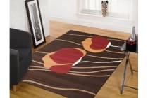 Poppies Modern Rug Brown Rust