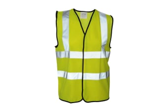 Absolute Apparel Mens Hi Vis Waistcoat (Pack of 2) (Saturn Yellow)