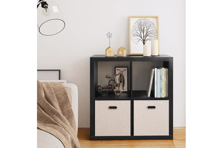 Cubo Display Shelf 4 Cube Storage Bookshelf Stand CD Rack Cabinet Shelves Black