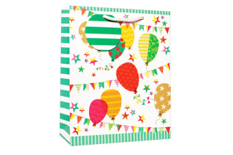 Simon Elvin Birthday Balloons Design Gift Bags (Pack of 6) (Multicoloured)