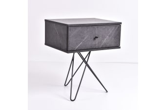 Susie Bedside table - Grey Stone