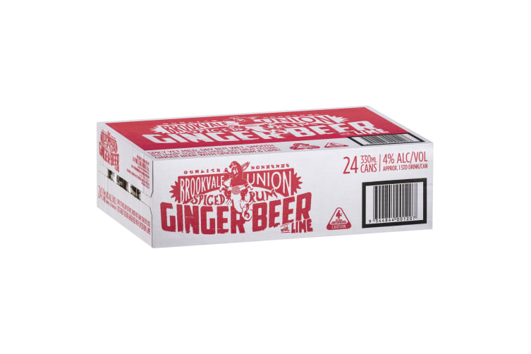 Brookvale Union Spiced Rum and Lime Ginger Beer Carton  Carton 4 x 6 x 330ml