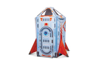 Melissa & Doug Cardboard Indoor Playhouse (Rocket Ship)