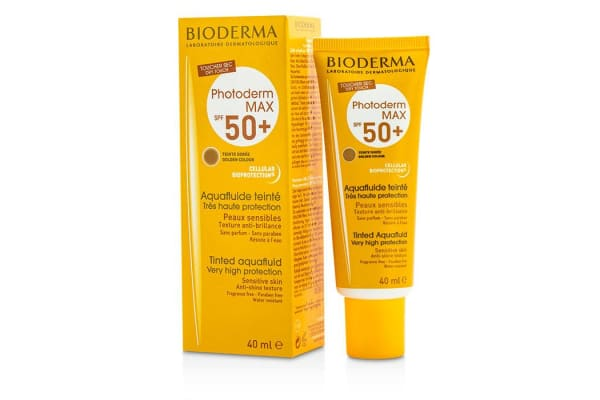 Bioderma Photoderm Max Very High Protection Tinted Aquafluid SPF50+ (Teinte Doree Golden Colour) - For Sensitive Skin (40ml/1.33oz)