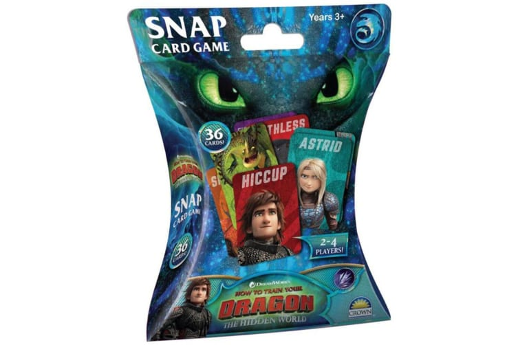 36pc DreamWorks HTTYD Snap Card Game
