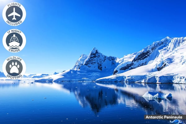 ANTARCTICA: 19 Day Antarctica Cruise Including Flights for Two (Oceanview Cabin)