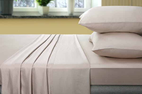 Ovela 400TC 100% Bamboo Bed Sheet Set (Queen, Beige)