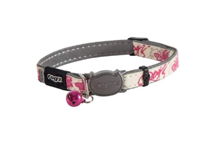 Rogz Glowcat Safeloc Collar Pink Butterfly - S
