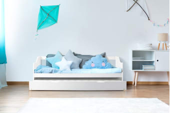Shangri-La Kids Daybed Trundle Bed (White)