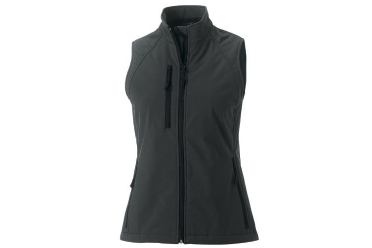 Russell Ladies/Womens Soft Shell Breathable Gilet Jacket (Titanium) (XL)