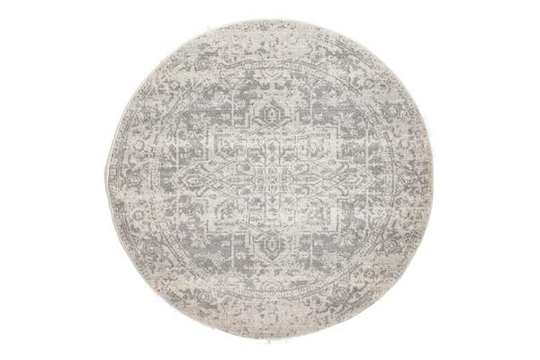 Dream White Silver Transitional Rug 200x200cm