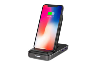 HyperDrive USB-C Hub with 7.5W Wireless Charger - Black (90026490)