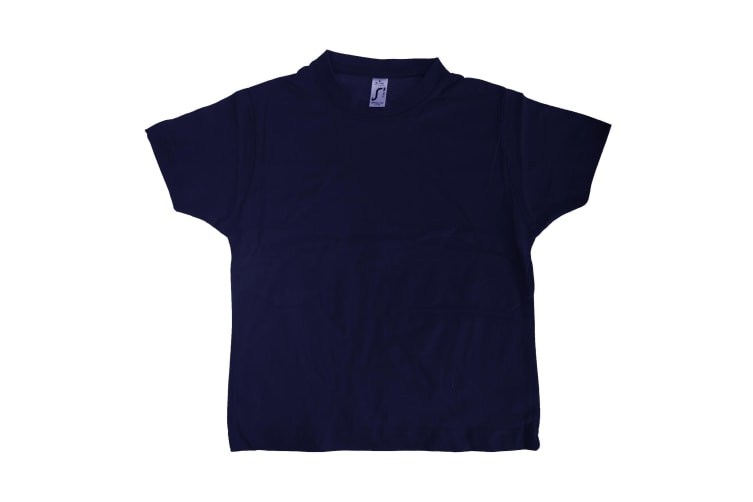 SOLS Kids Unisex Imperial Heavy Cotton Short Sleeve T-Shirt (French Navy) (4yrs)