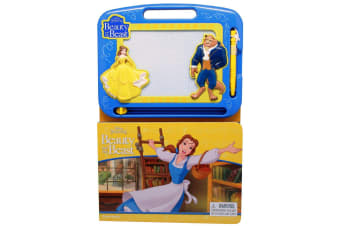 Beauty and the Beast - Learning Book with Magnetic Drawing Pad